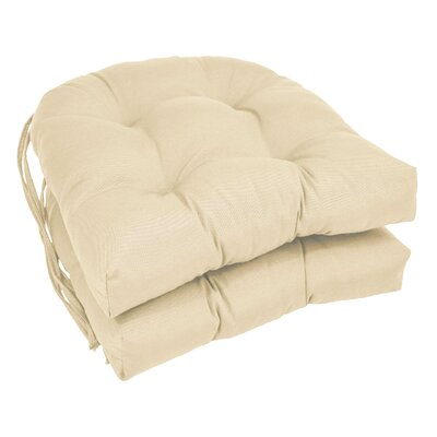 Outdoor Solid Twill Dining Chair Cushion Color: Egg Shell