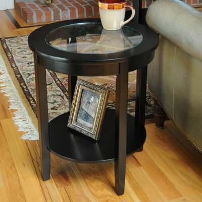 Fallsburg End Table Color: Black