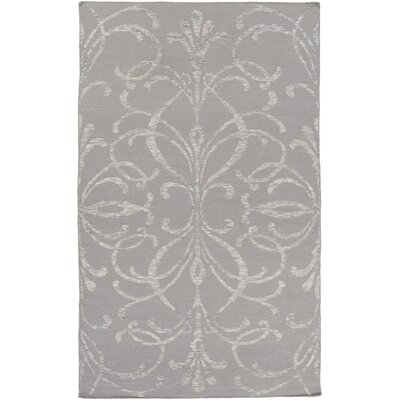 Delavan Hand Woven Rectangle Gray Area Rug Rug Size: Rectangle 5 x 76