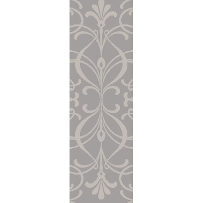 Delavan Hand Woven Rectangle Gray Area Rug Rug Size: Runner 26 x 8