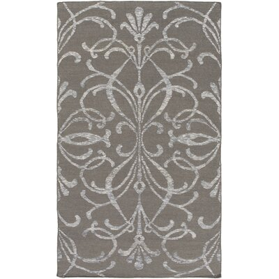 Delavan Hand Woven Gray Area Rug Rug Size: Rectangle 5 x 76