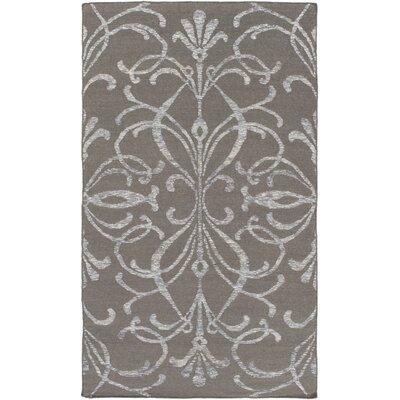 Delavan Hand Woven Gray Area Rug Rug Size: 6 x 9