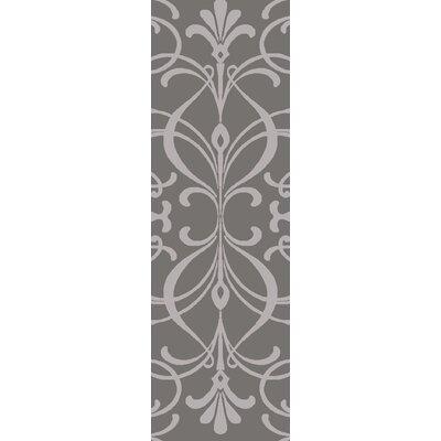 Delavan Hand Woven Gray Area Rug Rug Size: Runner 26 x 8