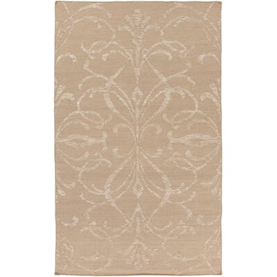 Delavan Hand Woven Beige Area Rug Rug Size: Rectangle 9 x 13