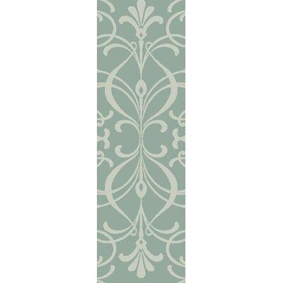 Delavan Hand Woven Green Area Rug Rug Size: Runner 26 x 8