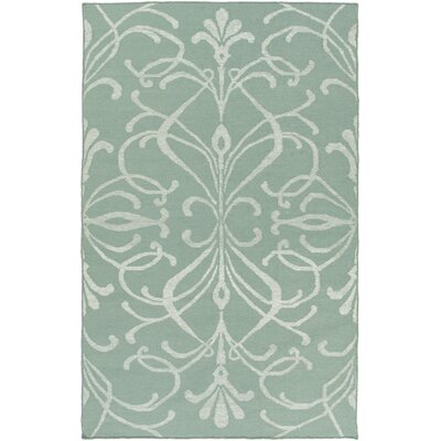 Delavan Hand Woven Green Area Rug Rug Size: 4 x 6