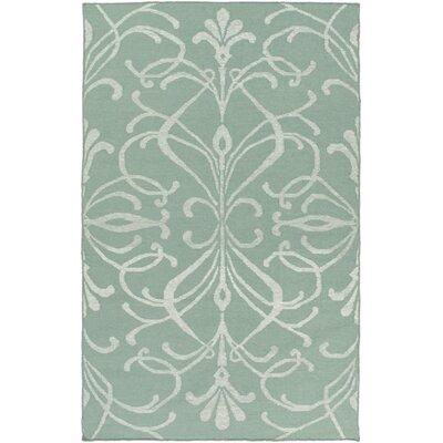 Delavan Hand Woven Green Area Rug Rug Size: 6' x 9'