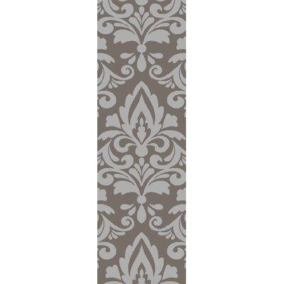 Delavan Hand Woven Ikat Gray Area Rug Rug Size: Runner 26 x 8
