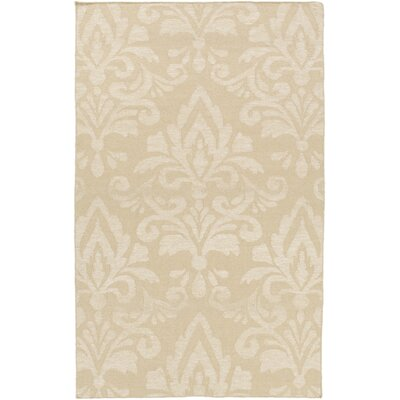 Delavan Hand Woven Ikat Beige Area Rug Rug Size: Rectangle 5 x 76