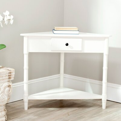 Broadalbin End Table With Storage Color: Distressed Cream