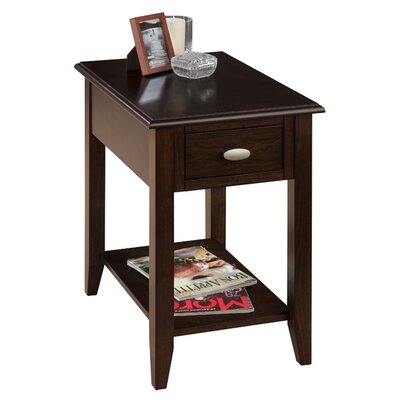 Hadley End Table With Storage� Color: Merlot
