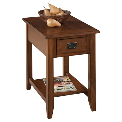 Hadley End Table With Storage� Color: Oak