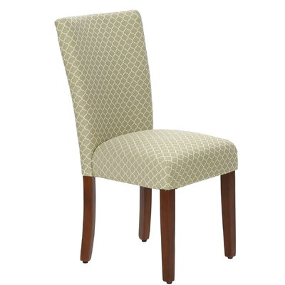 Waverly Parsons Chair Upholstery Spring Green Mini Quatrefoil Dining Room Si
