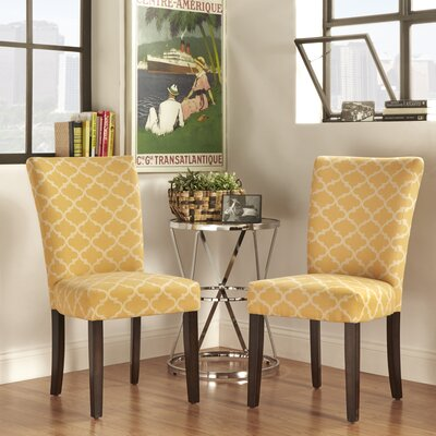 Kiantone Parsons Chair Upholstery: Orange Yellow