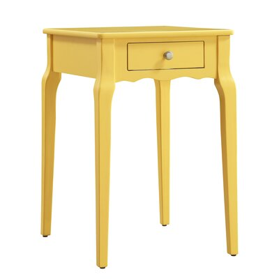 Pinckney End Table With Storage� Color: Yellow