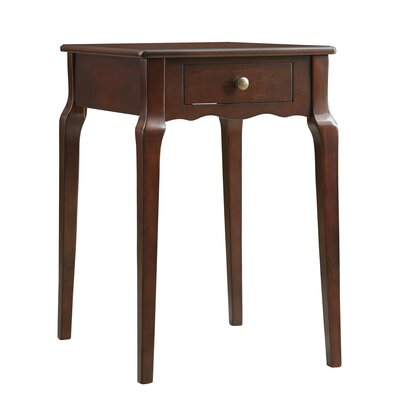 Pinckney End Table With Storage� Color: Espresso
