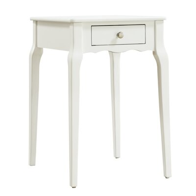Pinckney End Table With Storage� Color: White