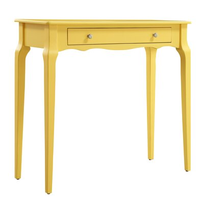 Fabius Console Table Color: Yellow