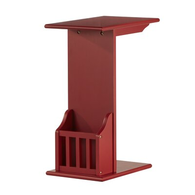Penfield End Table Color: Samba Red