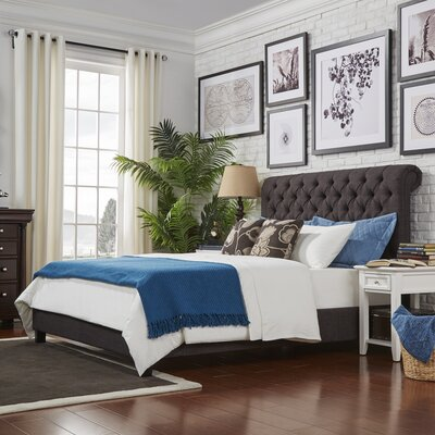 Hinsdale Queen Upholstered Platform Bed Color: Dark Gray