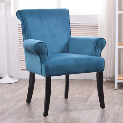 Geneva Arm Chair Fabric: Dark Blue