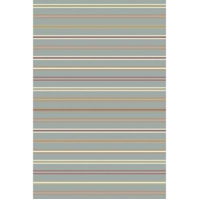 Rachel Hand Woven Gray Area Rug Rug Size: 5 x 8