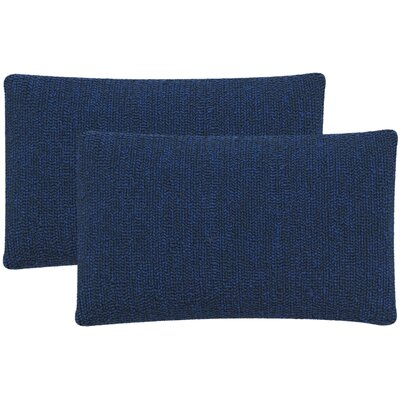Providence Outdoor Lumbar Pillow Color: Dark Marine Blue