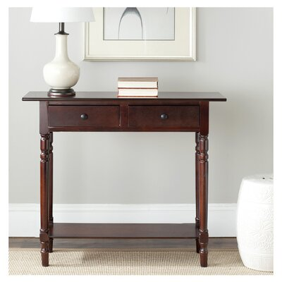 Cable Knit Console Table Finish: Dark Cherry