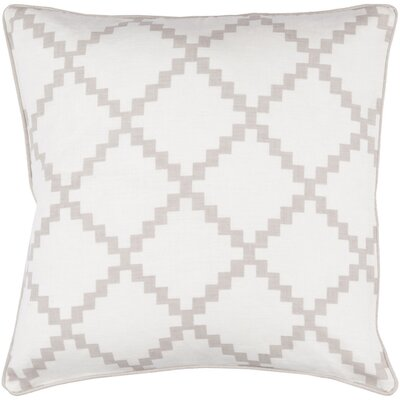Nob Hill Throw Pillow Size: 18 H x 18 W x 4 D, Color: Taupe