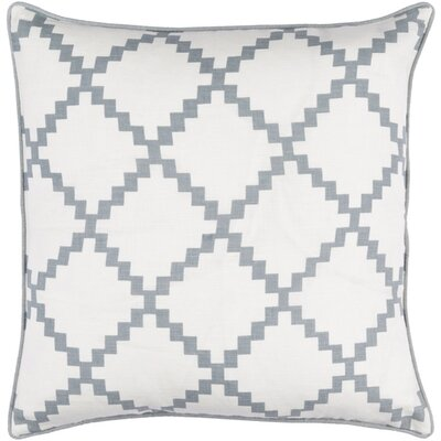 Nob Hill Throw Pillow Size: 18 H x 18 W x 4 D, Color: Slate