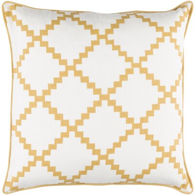 Nob Hill Throw Pillow Size: 18 H x 18 W x 4 D, Color: Gold