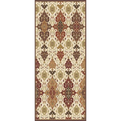 Burgundy/Burnt Orange Area Rug Rug Size: Runner 26 x 8