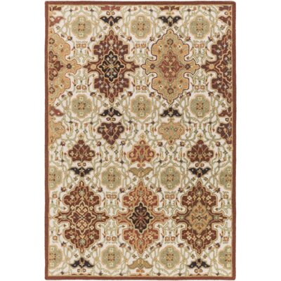 Burgundy/Burnt Orange Area Rug Rug Size: Rectangle 8 x 10
