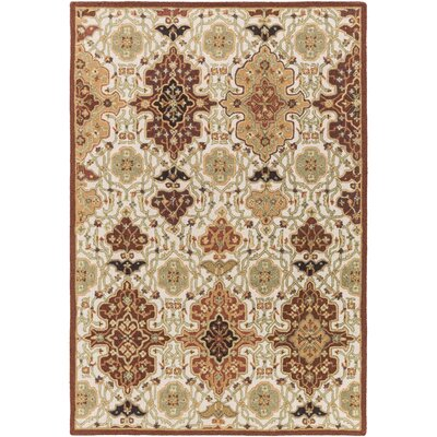 Burgundy/Burnt Orange Area Rug Rug Size: Rectangle 4 x 6