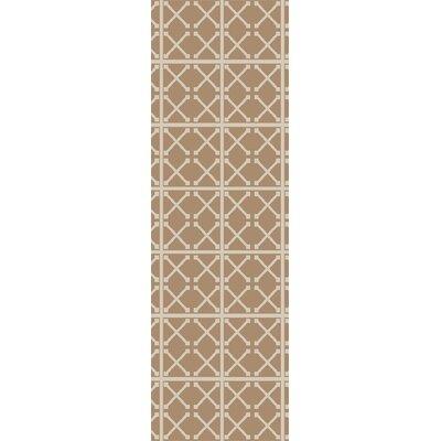 Hand-Woven Beige/Ivory Area Rug Rug Size: Runner 2'6