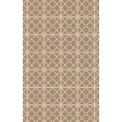 Hand-Woven Beige/Ivory Area Rug Rug Size: 4 x 6