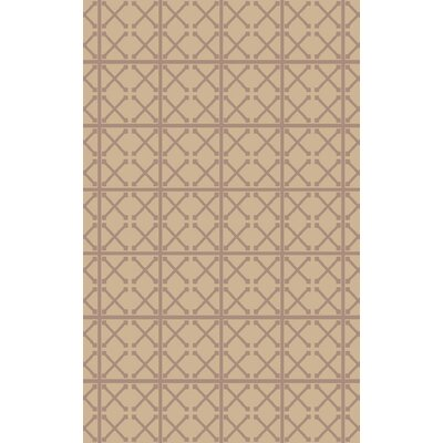 Donaghy Hand-Woven Beige/Mauve Area Rug Rug Size: 2 x 3