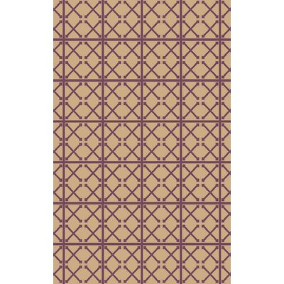 Donaghy Hand-Woven Beige/Magenta Area Rug Rug Size: 8 x 10