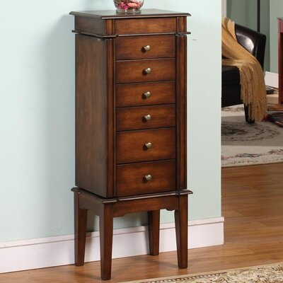 Maplewood Six Drawer Jewelry Armoire