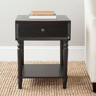 Nolan End Table Color: Black