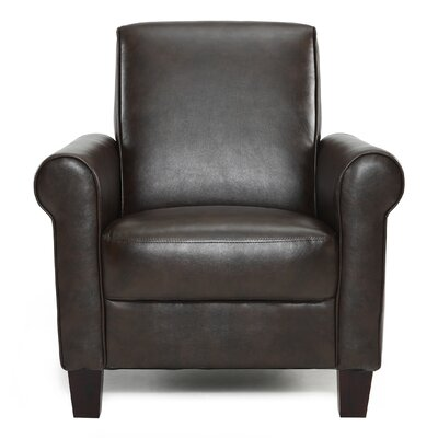 Ravenwood Faux Leather Armchair Upholstery: Wenge