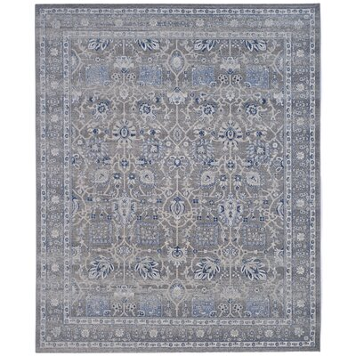 Bloomfield Power Loom Grey & Silver/Blue Area Rug Rug Size: 10 x 14