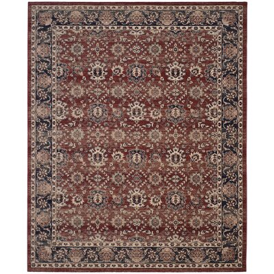 Bloomfield Rust/Navy Oriental Area Rug Rug Size: Rectangle 8 x 10