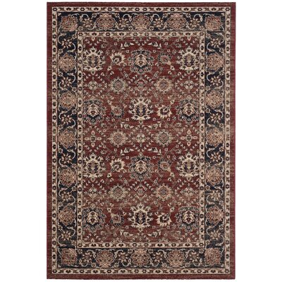 Bloomfield Rust/Navy Oriental Area Rug Rug Size: Rectangle 4 x 6