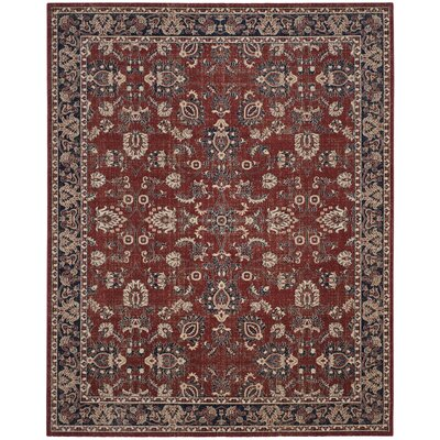 Bloomfield Rust/Navy Area Rug Rug Size: Rectangle 10 x 14