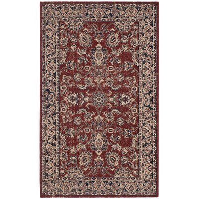 Bloomfield Rust/Navy Area Rug Rug Size: Rectangle 3 x 5