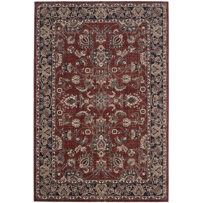 Bloomfield Rust/Navy Area Rug Rug Size: Rectangle 51 x 76