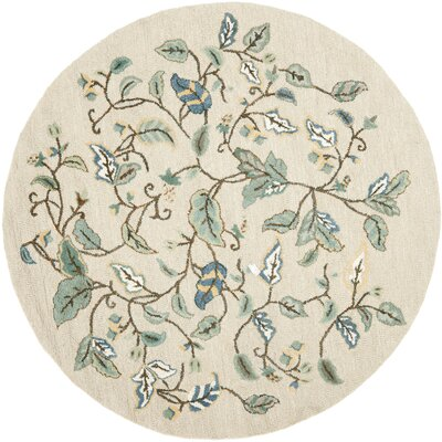 Autumn Woods Hand-Tufted Colonial Blue Area Rug Rug Size: Round 6 x 6