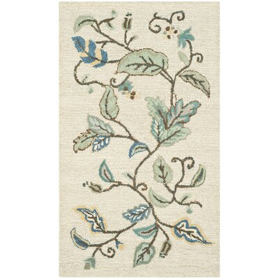 Autumn Woods Hand-Tufted Colonial Blue Area Rug Rug Size: 26 x 43