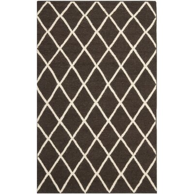 Danbury Hand-Woven Brown / Ivory Area Rug Rug Size: Rectangle 3 x 5